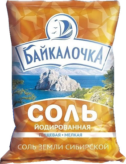 "Food grade rock salt ""Baikalochka"" iodized"