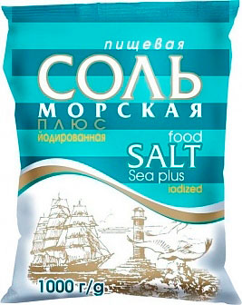 "Sea fine salt iodized ""Sea plus"""